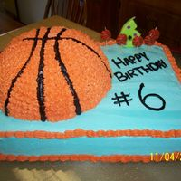 Basketball Cake I made this cake for my daughter's birthday. We did a basketball themed party and this really was the hit of the day!
