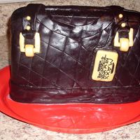 This Is The Second Cake I Made.   I seen a purse cake and wanted to make one. This is the second cake I ever made with fondant..
