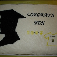 Ben's Graduation Cake I made this for my brother for his graduation in 2006. He is a hockey player (the one thing he was truly passionate about throughout school...