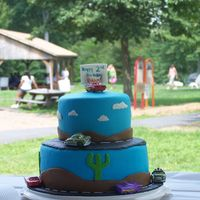 Cars Birthday Cake My 2nd attempt at tiered cakes and fondant. This was for my son's 2nd birthday party.