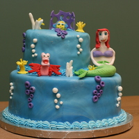 Little Mermaid Cake I made this cake for my daughter's 2nd birthday party this weekend. She is in love with the Little Mermaid movie and constantly talks...