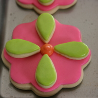 Flower Cookies Here are cookies I made for a gift basket to be raffled at a spaghetti dinner to support the Avon Walk for Cancer. They are the NFS cookie...