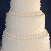 "Simple Round Wedding Cake This was my VERY FIRST wedding cake!10"", 8"", 6"" round wedding cakeBottom was WASC with buttercream filling, middle was a..."