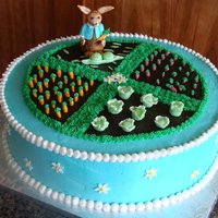 Peter Rabbit Shower Cake veggie garden and peter rabbit