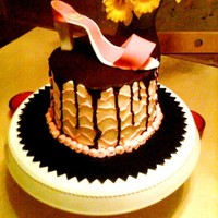 Pink Shoe Cake My first shoe cake. I'm OK with how it turned out. I had just one day to make the whole cake so was satisfied with the result given...