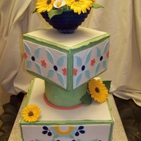 Talavera Tile Wedding Cake This is my first competition piece. I definitely challenged myself with this. It has its flaws but it was the best of what I could do and...