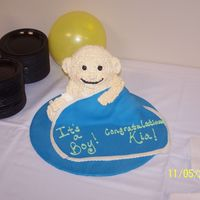 Baby Cake Baby cake with fondant blanket, all edible