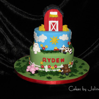 Barn Yard Inspired by many many of your cakes here on CC! Thank you so much! First time trying a RKT sculpture and am pretty happy with the result!...