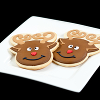 Fat Cross-Eyed Reindeer Had found a cookie similar to this online and could not find a cookie cutter to go along with it, so I drew one myself and therefore my...