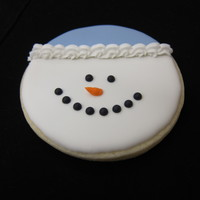 Happy Snowman Thanks to cc members for the inspiration for this cute cookie. Not my creation, simply my duplication. This will be part of my gift giving...