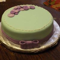 Purple Button Cake!  This was a cake I made for practice. It is covered in Marshmallow fondant, and the buttons are made of fondant as well. It is my second...