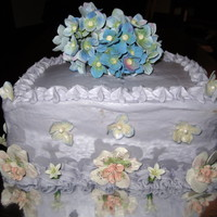 Bridal Shower Cake This is for my daughter's bridal shower today. Made the flowers well in advance. The cake is a white almond cake and filling is...