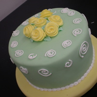 Ribbon Roses This was a demo cake for my Wilton Classes to promote the new Wilton Courses.TFL