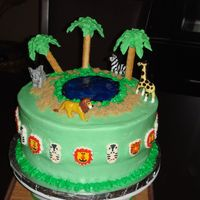 Jungle Safari Cake I made this cake for my daughter's 2nd birthday.