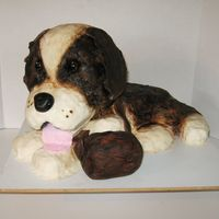 Saint Bernard Dog Cake This was ordered for a ladies 60th birthday. She loves dogs and LOVES Bailey's Irish cream, so subsequently her cake was chocolate...