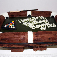 Pool Table Cake Vanilla cake with lemon curd and lemon buttercream covered and accented with mmf