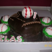 Baseball Mitt First Birthday This was for a first birthday. Baseball inside of mitt was the smash cake