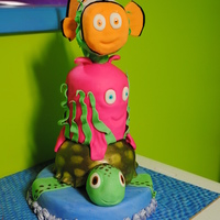 Nemo Stack for an amazing friend's daughter. The octopus gave me heck... and I'd love to know the secret to 'non serial killer'...