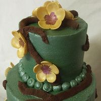 Sage Bridal Shower Cake