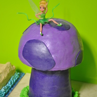 Tink On A Mushroom as requested by my daughter. mushroom is all brownies :o)