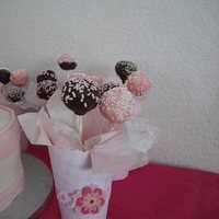Cake Pops My first time making cake pops, time consuming but fun to make.