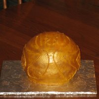 Harry Potter - Golden Snitch This was my birthday cake, as I am a huge Harry Potter fan. Buttercream covered and carefully brushed gold luster dust. TFL