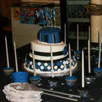 Topsy Turvy For Bat Mitzvah My boss' daughter was having her BM party and saw this design online. She asked me to replicate it in her colors. all fondant covered...