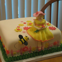 Another Baby Shower Cake   Made this for my friend, all fondant covered. TFL
