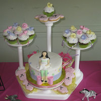 Cake, Cupcakes And Cookies Babyshower for a friend of mine. My first iced cookie. Fondant pacifiers and prego lady. TFL