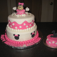 Minnie Mouse 1St Birthday Cake The client loved the cake by ccer zeek71....mine is no where close to as good as that one, but I was pretty happy with my first attempt at...