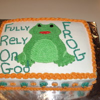 Frog This cake was for the Church youth group. All buttercream.