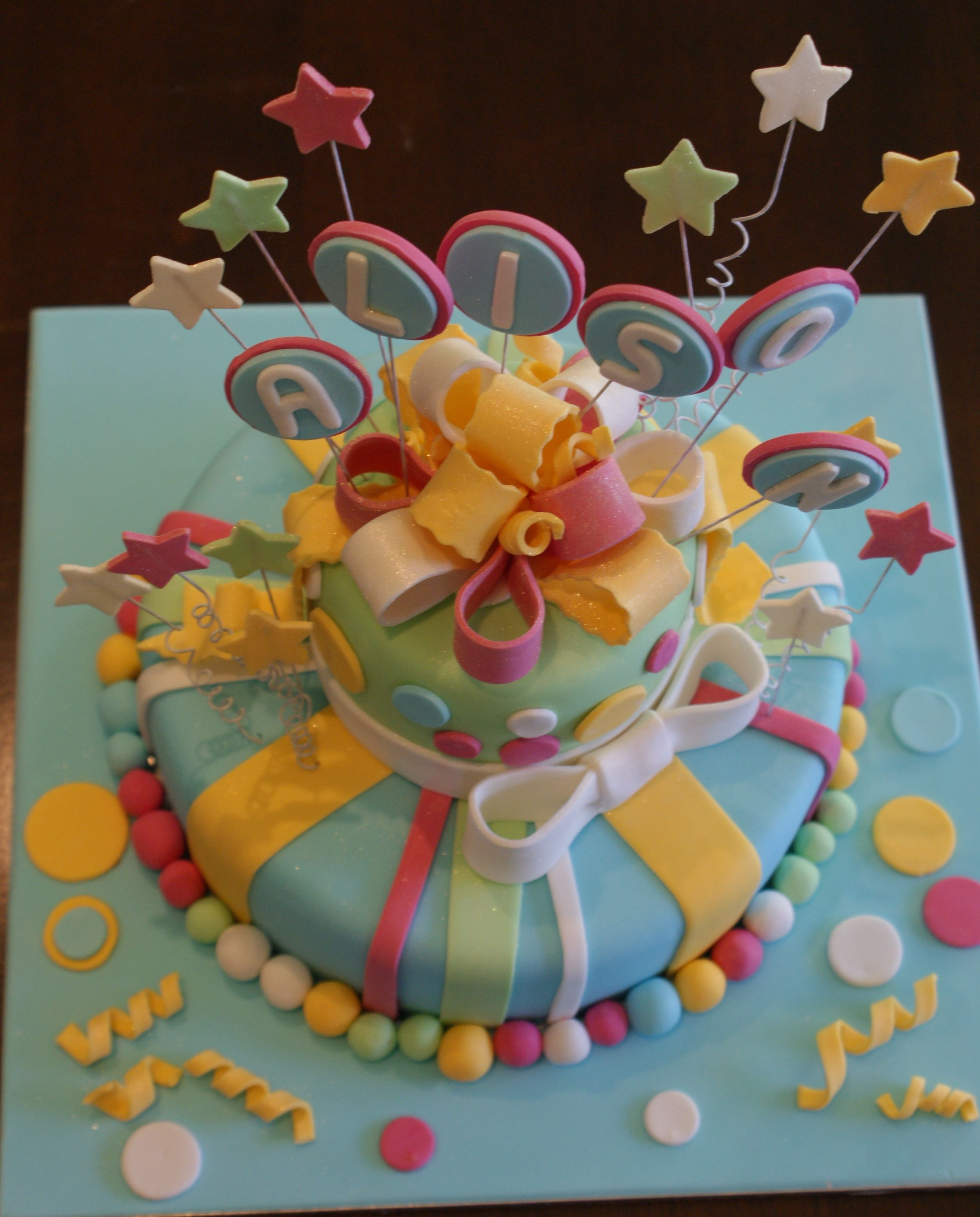Colourful Birthday Cake
