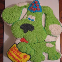 Blues Clues (Revamped As My Pal Scout) I made 2 cakes and layered them. Turned out great. The butter cream icing was amazing and my Uncle didn't know I made the cake. He...