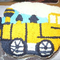 Train Cake For Fun Made this cake for fun to try a new cake recipe. It came out good, but my 2 year old took a piece off the front of the train, so it is...