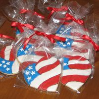 Flag Cookies  sugar cookies with antonia74 recipe. TY to mawagner for inspiration. (her cookies are perfect!) I used tip 1 to outline the black but I...