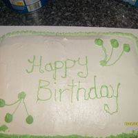 My Aunt Bday THIS IS MY FIRST SHEET CAKE THIS BIG, WITH STRAWBERRY FILLING & BUTTERCREAM ICING