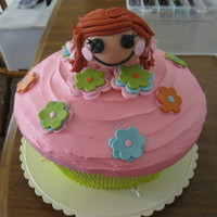 Lala Loopsy Cupcake! used 8' round and carved down sides