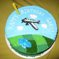 "Airplane Birthday Cake This was my first ""real"" decorated cake! I made this for my father-in-law's birthday - he is a pilot. WASC cake with..."