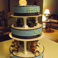 Monkey Boy Monkey & banana baby shower theme! 8,10 & 12 inches strawberry, chocolate & vanilla cake!