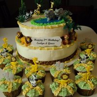 Zoo Animals lemon pound cake with cream cheese frosting