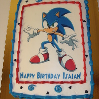 Sonic The Hedgehog sonic edible image