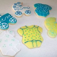 Baby Shower Cookies Made with NFSC and Toba's Glaze