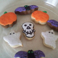 Halloween Cookies Mini Sugar and Chocolate Cookies