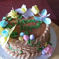Easter Cake Gluten free cake with chocolate BC and chocolate IMBC gumpaste flowers and eggs
