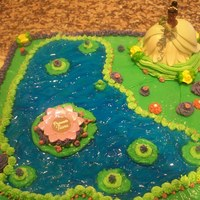 """the Princess And The Frog"" - Disney Finally a Black Princess to share - All Buttercream Frosting except for the 3D images."