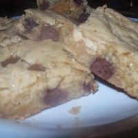 Blonde Brownies Here is a childhood favorite recipe called blonde brownies, they are a cross between chocolate chip cookies and brownies of course.