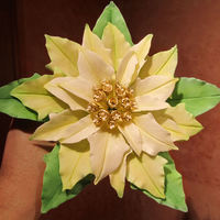 Poinsettia Just received Tonedna's DVD on gumpaste poinsettias the other day. This was my first attempt.