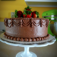 Welcome Home Cake chocolate buttercream with bc string work