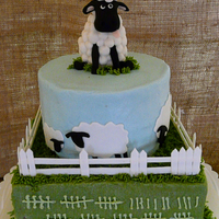 Sheep Cake This cake was inspired from a tshirt design. it's buttercream iced with fondant/gumpaste details TFL