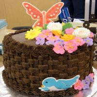 Basketweave  I made this cake in my wilton course 2 class, in feb 2009, one day before my birthday...So I celebrated with it! This cake was made with...